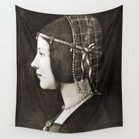 engineer Wall Tapestries featuring Bianca Sforza by Leonardo da Vinci  by Palazzo Art Gallery