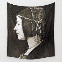 da vinci Wall Tapestries featuring Bianca Sforza by Leonardo da Vinci  by Palazzo Art Gallery