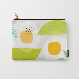 Minimalist Avocado and Eggs Carry-All Pouch