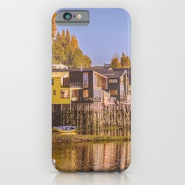 Lakefront Palafito Houses, Chiloe Island, Chile iPhone Case