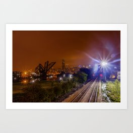 Chicago and the tracks Art Print