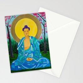 Meditation in bloom Stationery Cards