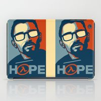 half life iPad Cases featuring Half Life Hope by The Strynx