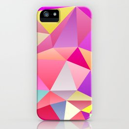 Pink Polygons iPhone Case