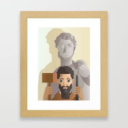 great sculture and renaissance artist Framed Art Print