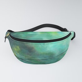 Crossed Green - Abstract Art Fanny Pack