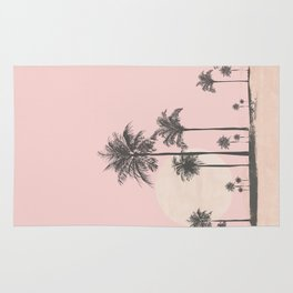 Tropical Sunset In Peach Coral Pastel Colors Rug