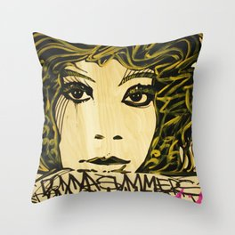 Donna Summers Throw Pillow
