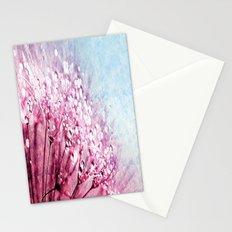 Mauve Lavender Blue Dandelion Dew Flowers Stationery Cards