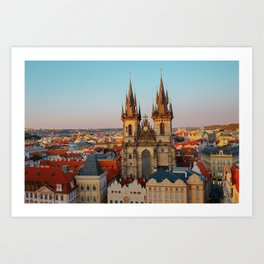 Orange Roofs of Prague Art Print