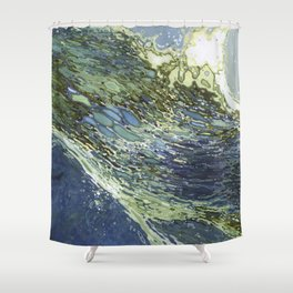 Ebb and Flow Ocean Waves Shower Curtain