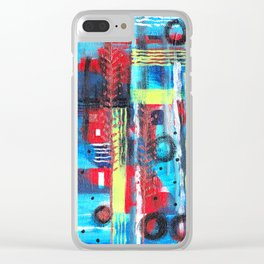 Evolve Abstract Clear iPhone Case