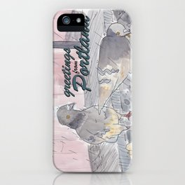 Portland Pigeons - Big Pink GREETINGS iPhone Case