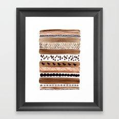 Pattern / Nr. 3 Framed Art Print