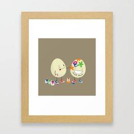 Easter eggs Framed Art Print