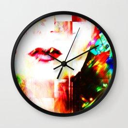 Neon Pout Wall Clock