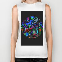party Biker Tanks featuring Party! by Judy Kaufmann