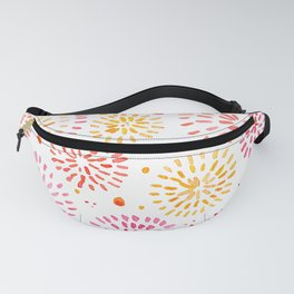Abstract watercolor sparkles – yellow and orange Fanny Pack