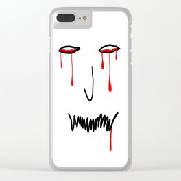 Demonio deprimido Clear iPhone Case