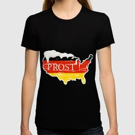 Drinking Beer Wyoming Prost German Oktoberfest T-shirt