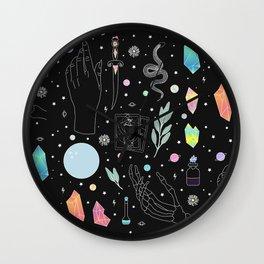Crystal Witch Starter Kit - Illustration Wall Clock