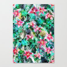 Jungle Lilies Canvas Print