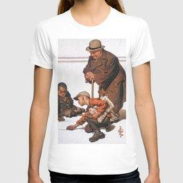 12,000pixel-500dpi - Joseph Christian Leyendecker - Boys Playing With Marbles - Digital Remastered T-shirt