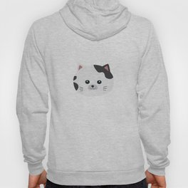 White Cat with spotted fur Hoody