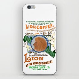 Lion brand coffee ad iPhone Skin