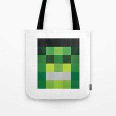 hero pixel green black Tote Bag