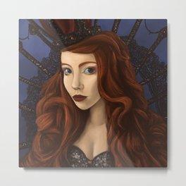 Beuty Red Head Metal Print
