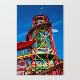 Colorful Toboggan Slide at Oktoberfest Canvas Print