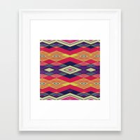 native Framed Art Prints featuring native by spinL