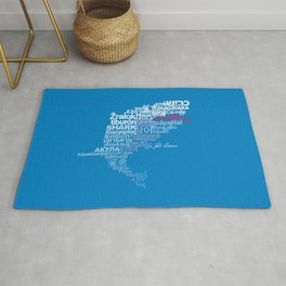 Shark in Different Languages Rug