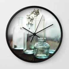 Aqua Glass - Vintage Wall Clock