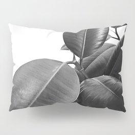 Ficus Elastica #23 #BlackAndWhite #foliage #decor #art #society6 Pillow Sham