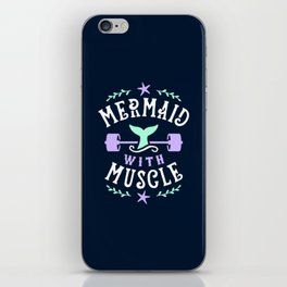 Mermaid With Muscle iPhone Skin