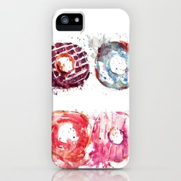 Donuts love iPhone Case