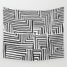 Optical Illusion Sketch Wall Tapestry