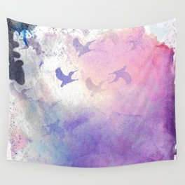 Hummingbird Heaven Wall Tapestry