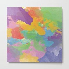 Watercolor Splatter Metal Print