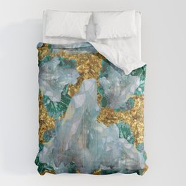 WHITE QUARTZ  CRYSTALS & BLUE-GREEN AQUAMARINE Comforters