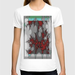 comic flowers growing up up up T-shirt