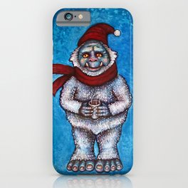 Holiday Abominable Snowman Yeti iPhone Case