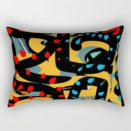Energy Flow Abstract Art Life Rectangular Pillow