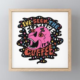 The Future is Coffee in color Framed Mini Art Print