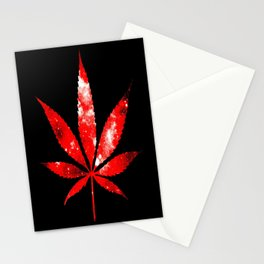 Weed : High Times red Galaxy Stationery Cards