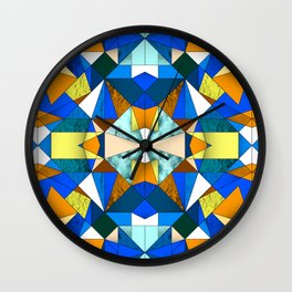 Kaleido Stained Glass Wall Clock