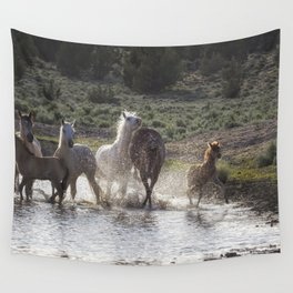 Splashing About At The Waterhole Wall Tapestry