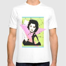 Sophia Loren MEDIUM White Mens Fitted Tee